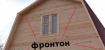 Как сделать фронтоны крыши дома
