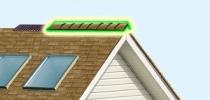Как крепить конек на крышу