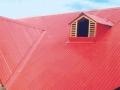 Красная крыша из профнастила