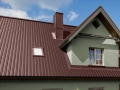 Коричневая крыша профнастил