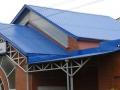 Синяя крыша из профнастила