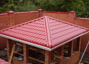 Возведение шатровой крыши