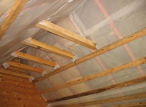 Как и чем утеплить двухскатную крышу дома