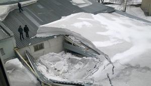 обвал кровли под нагрузкой снега