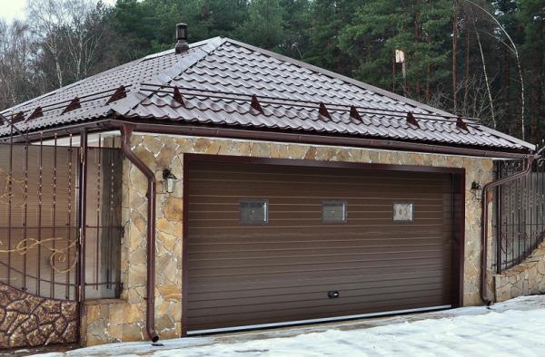 жесткая крыша гаража