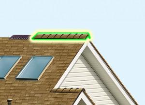 Как сделать конек на шатровой крыше 93