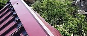 конек на крышу из металлочерепицы