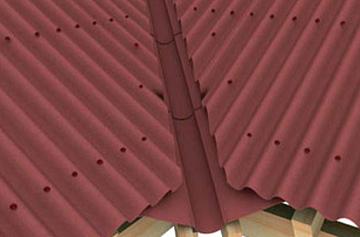 дополнительные элементы на крыше из ондулина