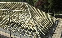 Конструкция четырехскатной вальмовой крыши