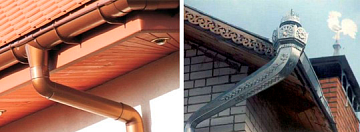 разновидности оцинкованных сливов для крыши