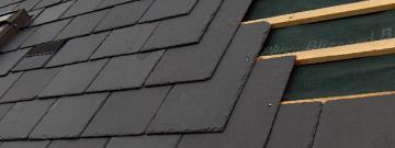 как класть сланец на крышу