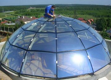 крыши из стекла