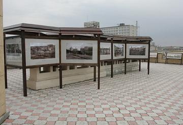 выставка на крыше краеведческого музея в Челябинске